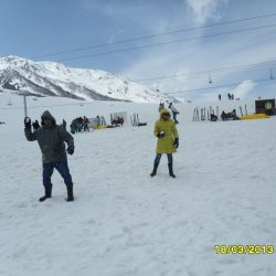 Nikesh on the slopes